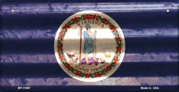 Virginia Corrugated Flag Novelty Bicycle Plate BP-11987