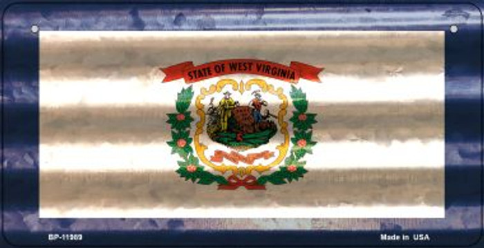 West Virginia Corrugated Flag Novelty Bicycle Plate BP-11989
