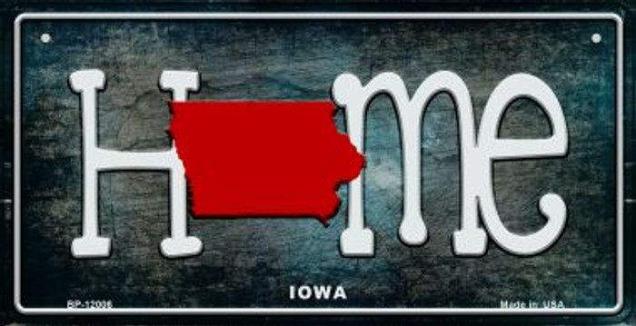 Iowa Home State Outline Novelty Bicycle Plate BP-12006