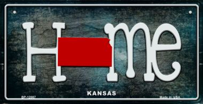 Kansas Home State Outline Novelty Bicycle Plate BP-12007
