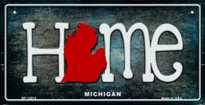 Michigan Home State Outline Novelty Bicycle Plate BP-12013
