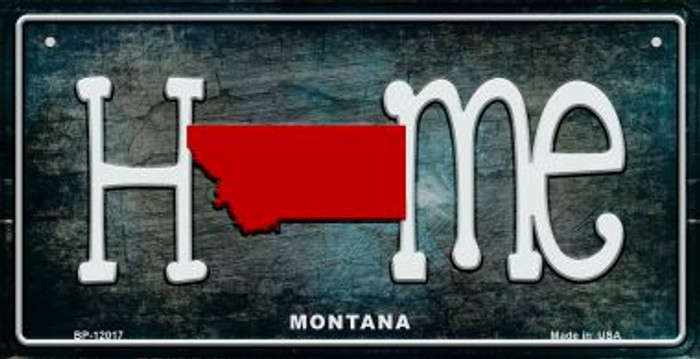 Montana Home State Outline Novelty Bicycle Plate BP-12017
