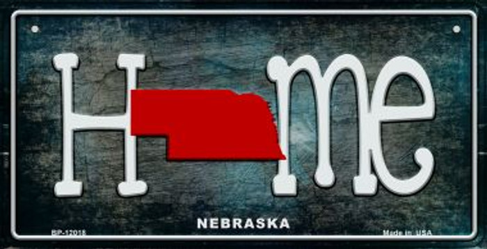 Nebraska Home State Outline Novelty Bicycle Plate BP-12018