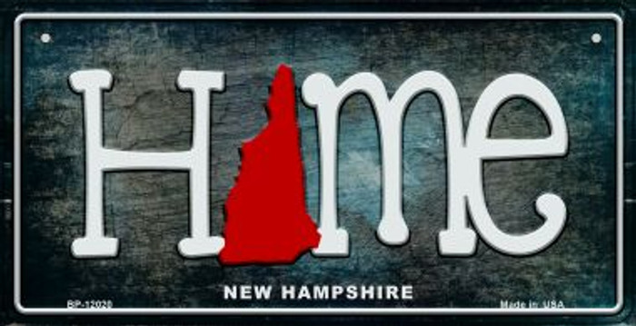 New Hampshire Home State Outline Novelty Bicycle Plate BP-12020