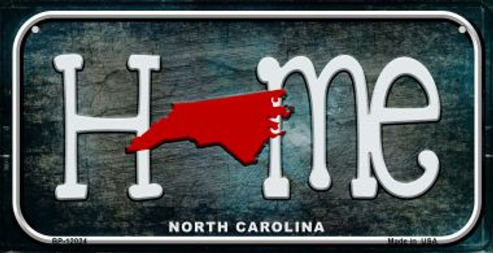 North Carolina Home State Outline Novelty Bicycle Plate BP-12024