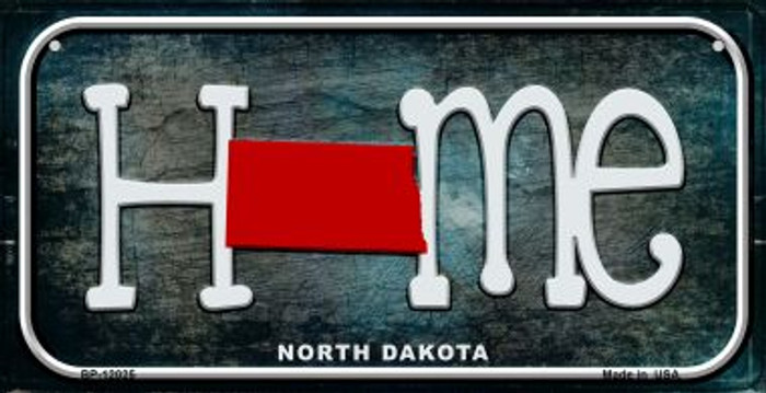 North Dakota Home State Outline Novelty Bicycle Plate BP-12025