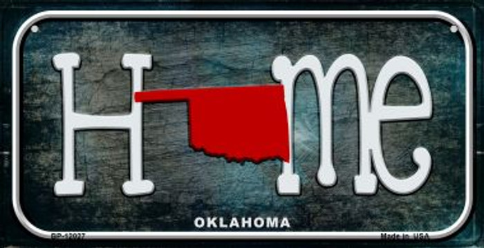 Oklahoma Home State Outline Novelty Bicycle Plate BP-12027
