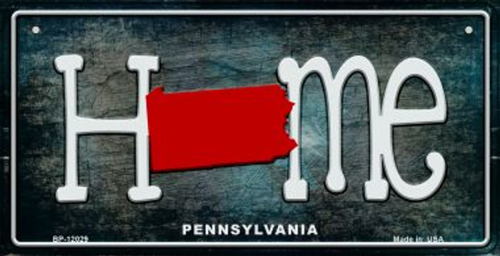 Pennsylvania Home State Outline Novelty Bicycle Plate BP-12029