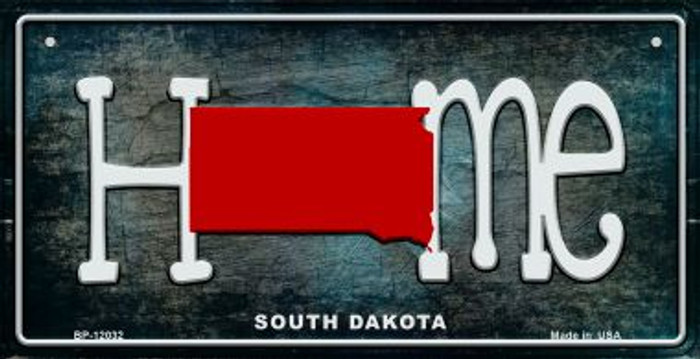 South Dakota Home State Outline Novelty Bicycle Plate BP-12032