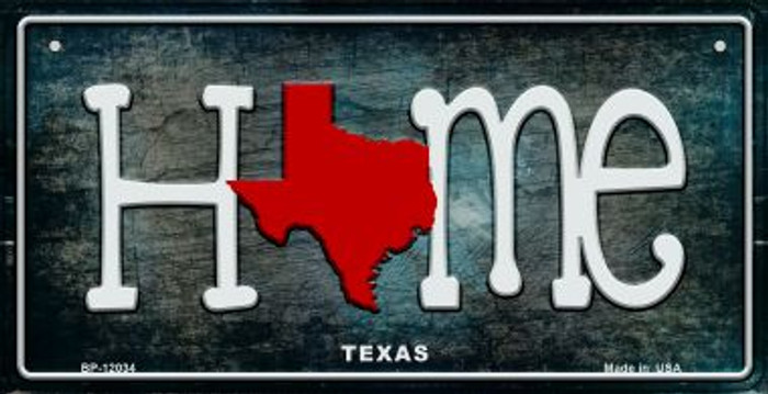 Texas Home State Outline Novelty Bicycle Plate BP-12034