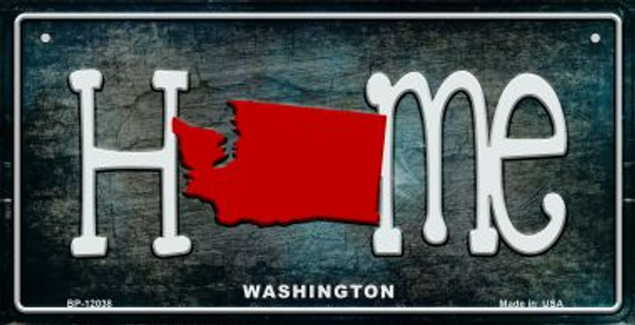 Washington Home State Outline Novelty Bicycle Plate BP-12038