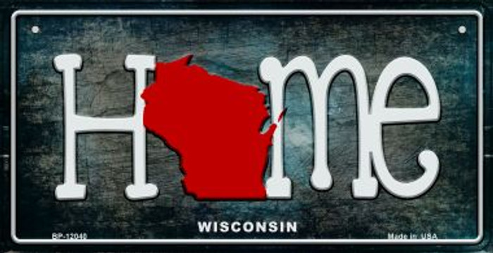Wisconsin Home State Outline Novelty Bicycle Plate BP-12040