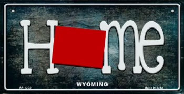 Wyoming Home State Outline Novelty Bicycle Plate BP-12041