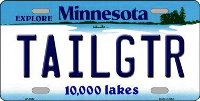 Tailgtr Minnesota Novelty Metal License Plate