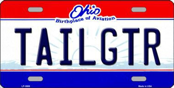 Tailgtr Ohio State Novelty Metal License Plate