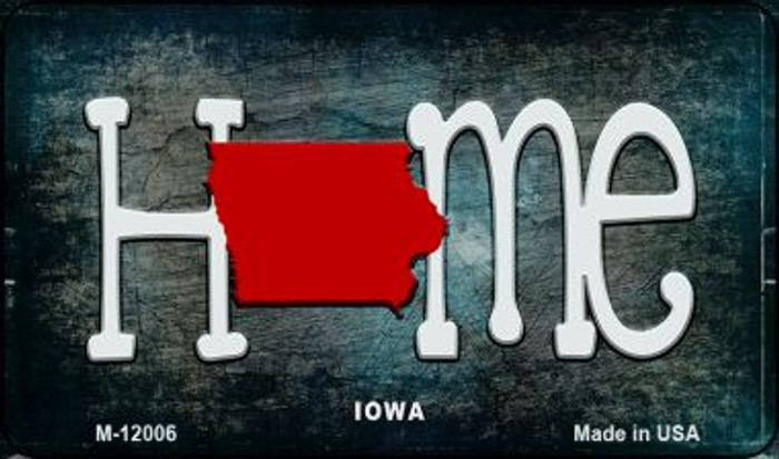 Iowa Home State Outline Novelty Magnet M-12006