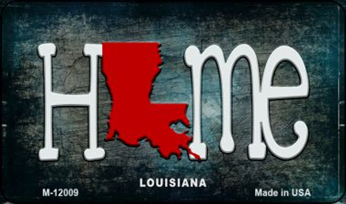 Louisiana Home State Outline Novelty Magnet M-12009
