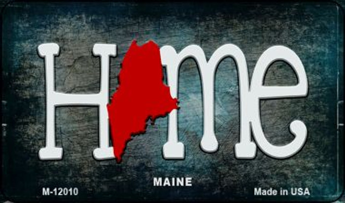 Maine Home State Outline Novelty Magnet M-12010
