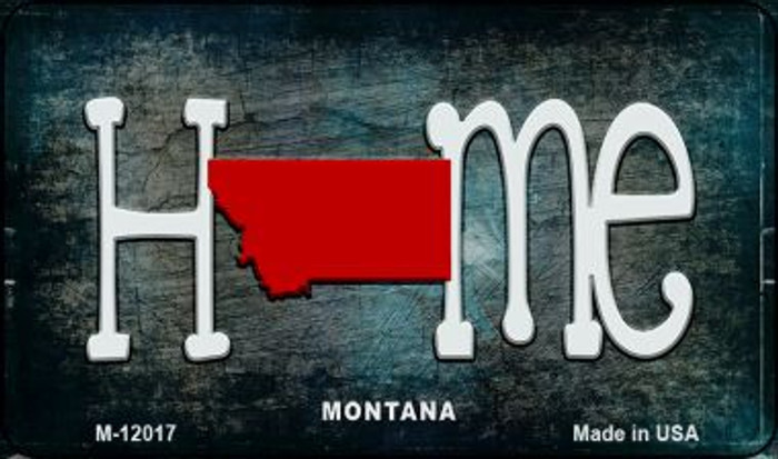 Montana Home State Outline Novelty Magnet M-12017