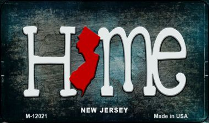 New Jersey Home State Outline Novelty Magnet M-12021