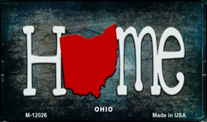 Ohio Home State Outline Novelty Magnet M-12026