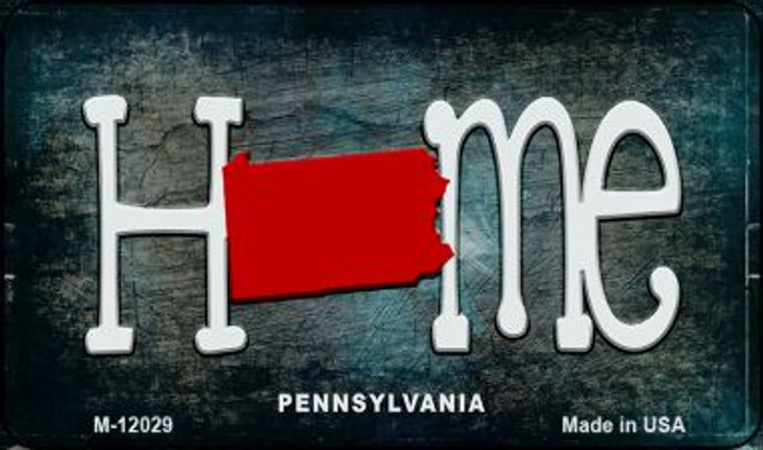 Pennsylvania Home State Outline Novelty Magnet M-12029