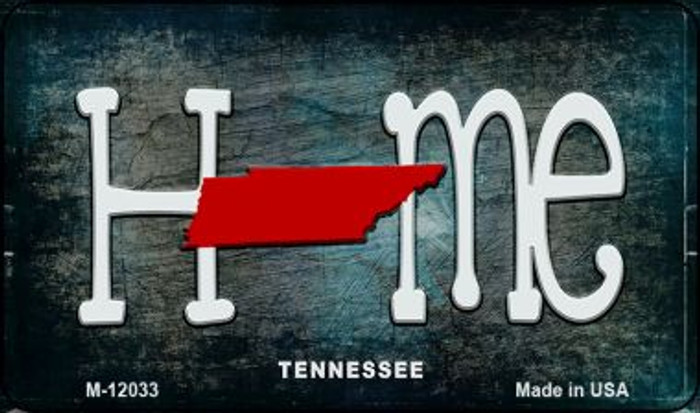 Tennessee Home State Outline Novelty Magnet M-12033