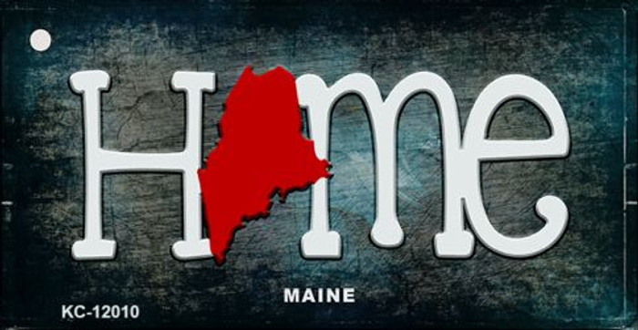 Maine Home State Outline Novelty Key Chain KC-12010