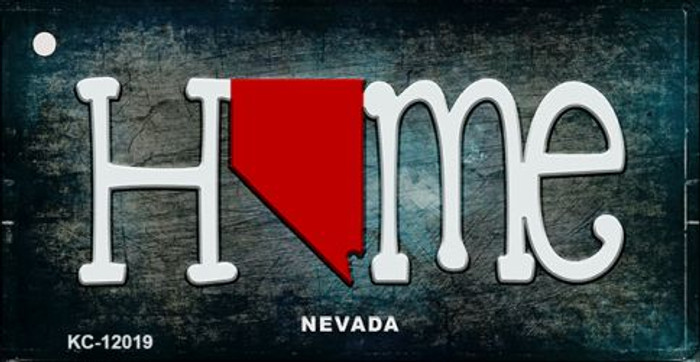 Nevada Home State Outline Novelty Key Chain KC-12019
