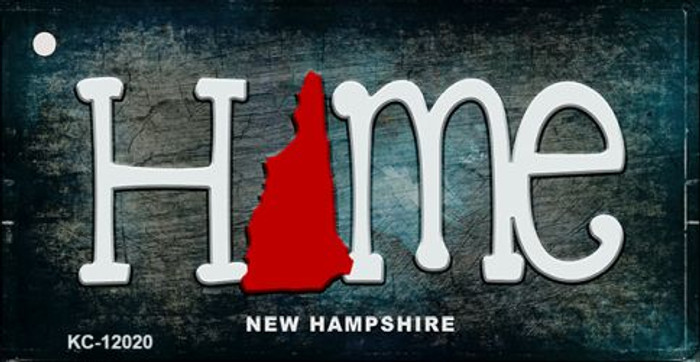 New Hampshire Home State Outline Novelty Key Chain KC-12020