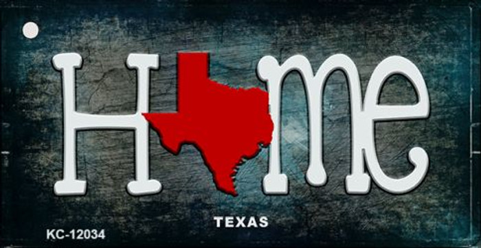 Texas Home State Outline Novelty Key Chain KC-12034