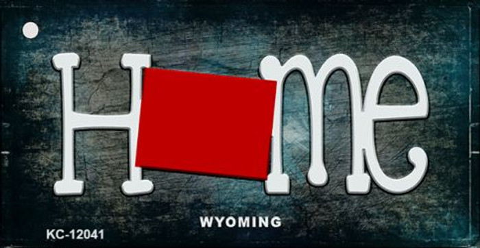 Wyoming Home State Outline Novelty Key Chain KC-12041