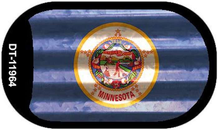 Minnesota Corrugated Flag Novelty Dog Tag Necklace DT-11964