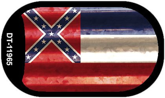 Mississippi Corrugated Flag Novelty Dog Tag Necklace DT-11965