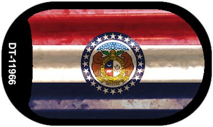 Missouri Corrugated Flag Novelty Dog Tag Necklace DT-11966