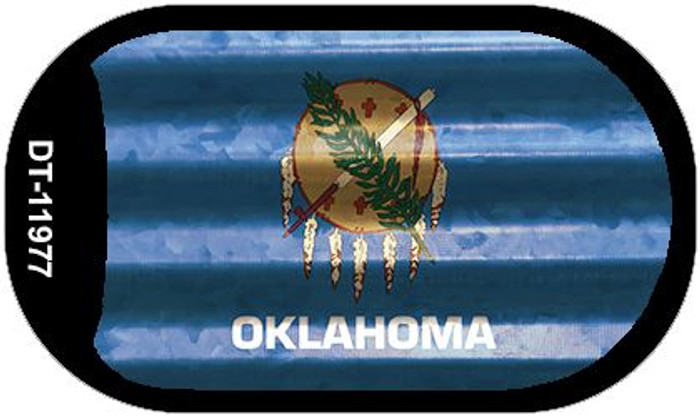 Oklahoma Corrugated Flag Novelty Dog Tag Necklace DT-11977