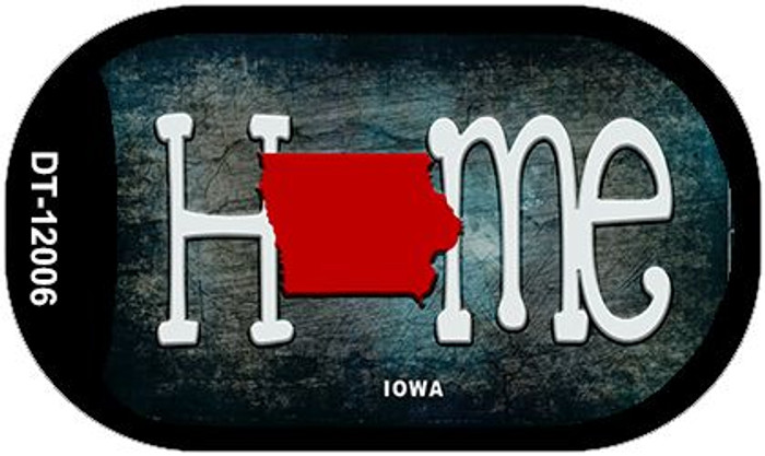 Iowa Home State Outline Novelty Dog Tag Necklace DT-12006