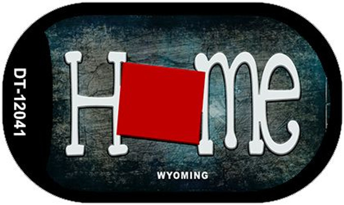 Wyoming Home State Outline Novelty Dog Tag Necklace DT-12041