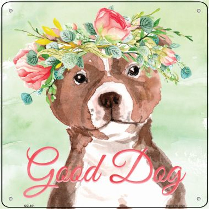 Bull Terrier Good Dog Novelty Square Sign SQ-401