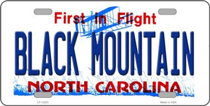 Black Mountain North Carolina Novelty Metal License Plate LP-12051