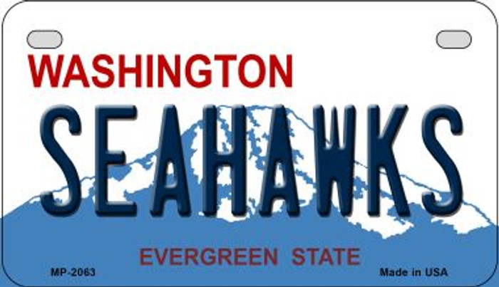Seahawks Washington Metal Novelty Motorcycle Plate MP-2063