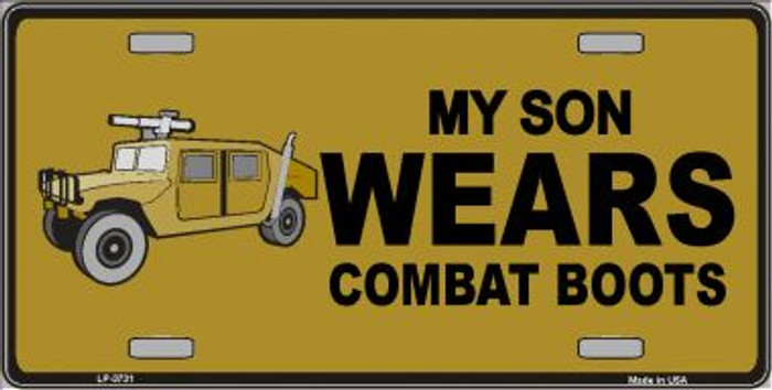 Son Wears Combat Boots Metal Novelty License Plate