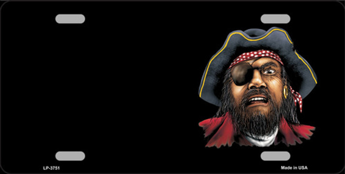Pirate Offset Metal Novelty License Plate LP-3751