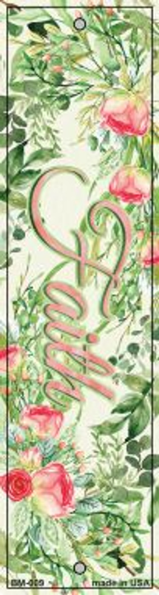 Faith on Flowers Novelty Metal Bookmark BM-009