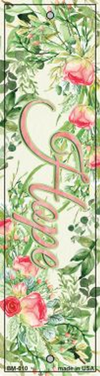 Hope on Flowers Novelty Metal Bookmark BM-010