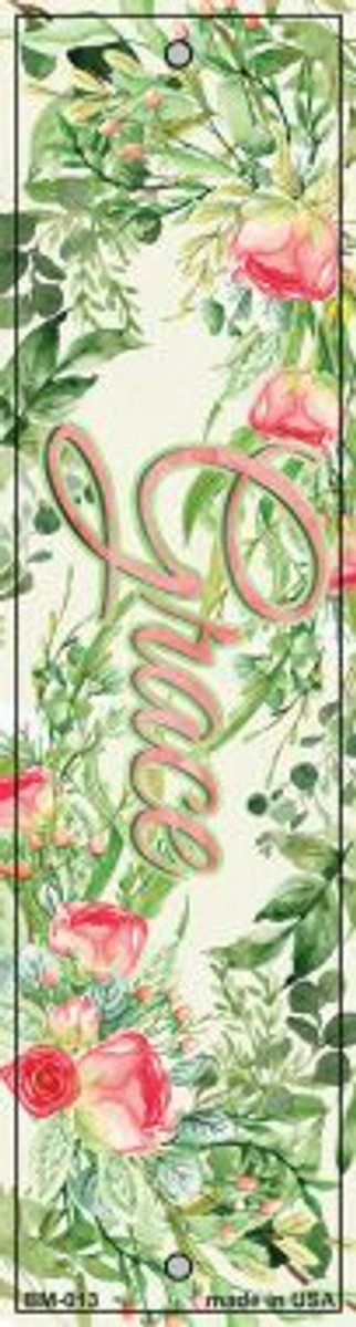 Grace on Flowers Novelty Metal Bookmark BM-013