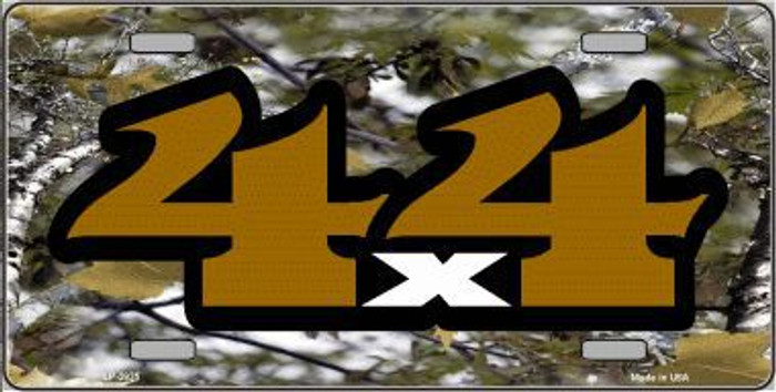 4x4 Camouflage Metal Novelty License Plate