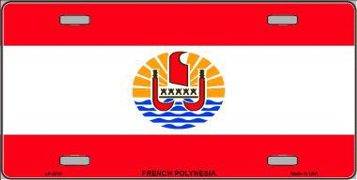 French Polynesia Flag Metal Novelty License Plate LP-4016
