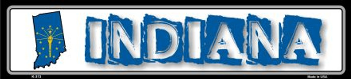 Indiana State Outline Novelty Metal Vanity Mini Street Sign