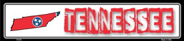 Tennessee State Outline Novelty Metal Vanity Mini Street Sign
